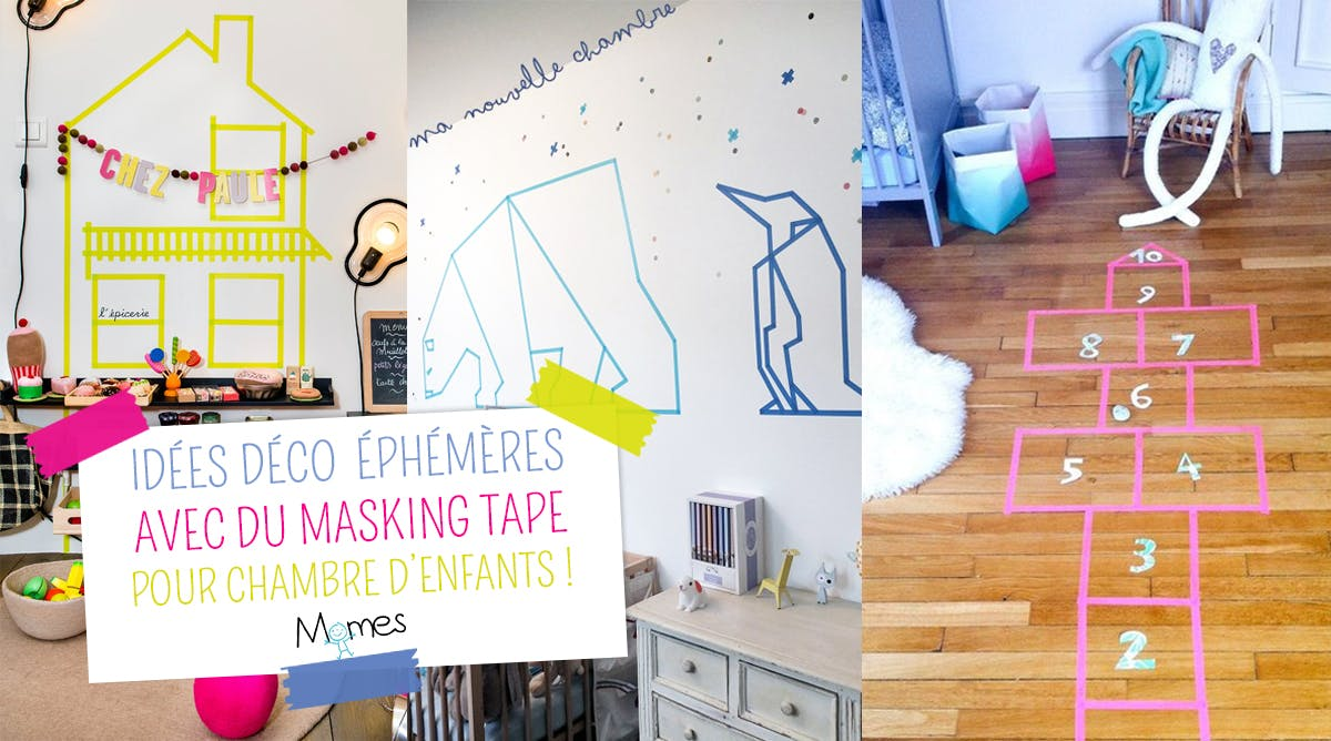 idées déco avec du Masking Tape pour la chambre des enfants