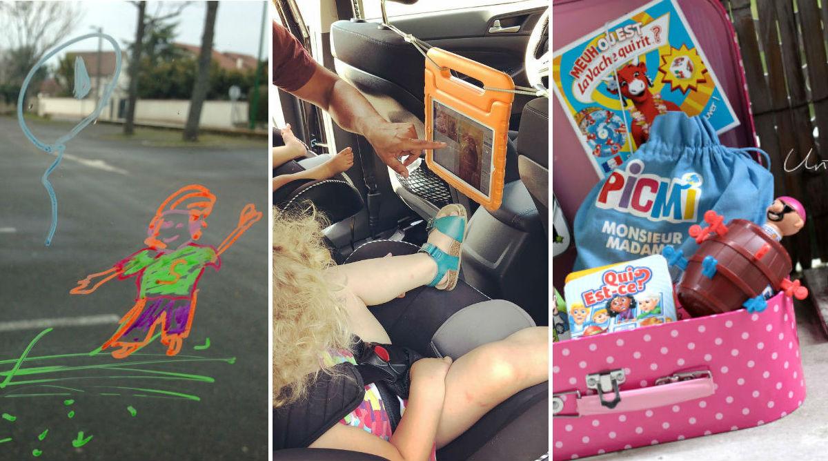 15 idées pour occuper les enfants en voiture