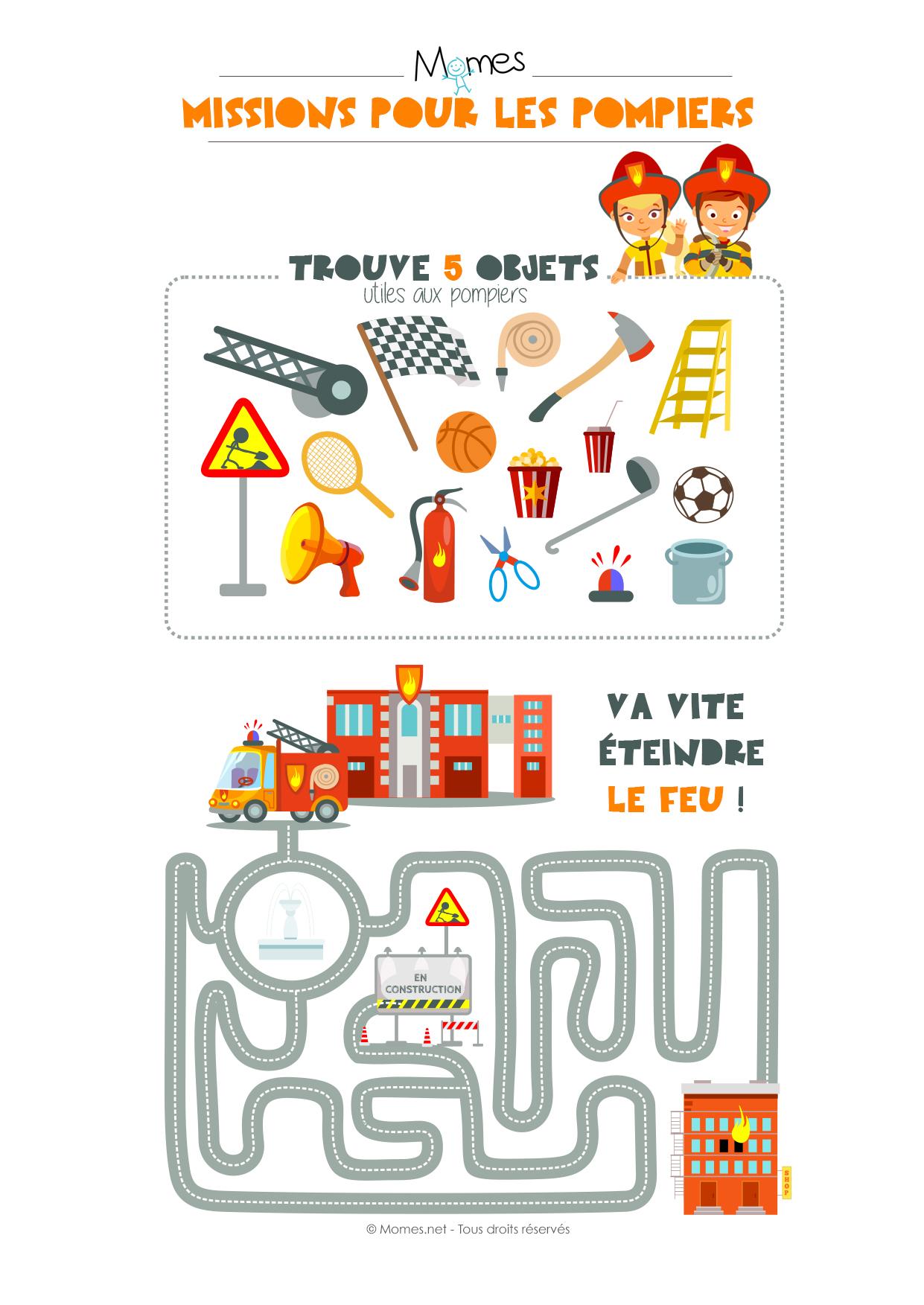 jeux pompiers
