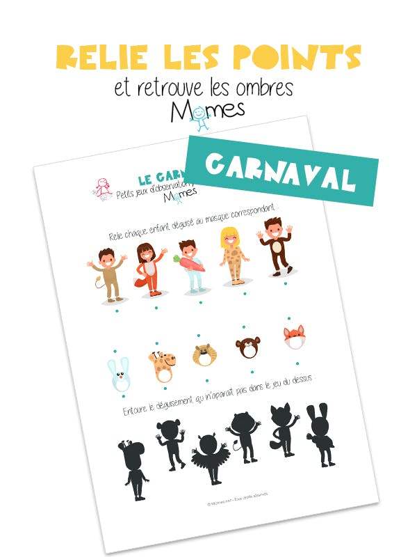 jeu à imprimer carnaval