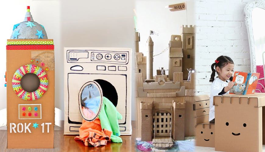 Des idées de jouets en carton totalement canons !