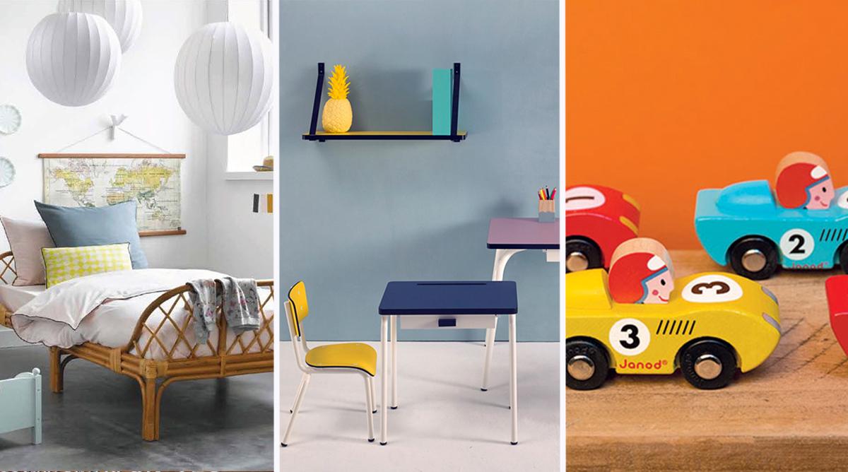 20 id es de d coration vintage pour la chambre des enfants. Black Bedroom Furniture Sets. Home Design Ideas