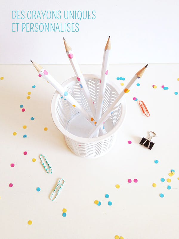 Un crayon personnalisé