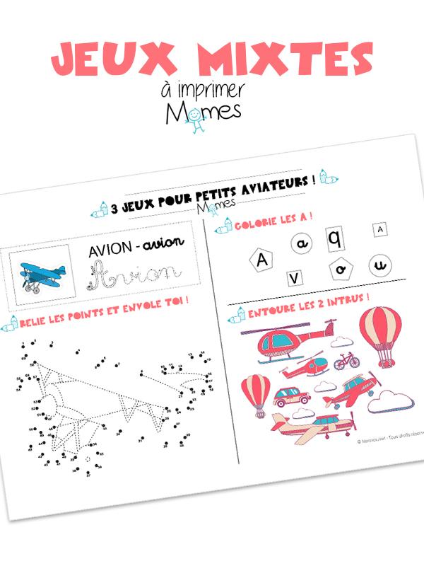 3 jeux pour petits aviateurs