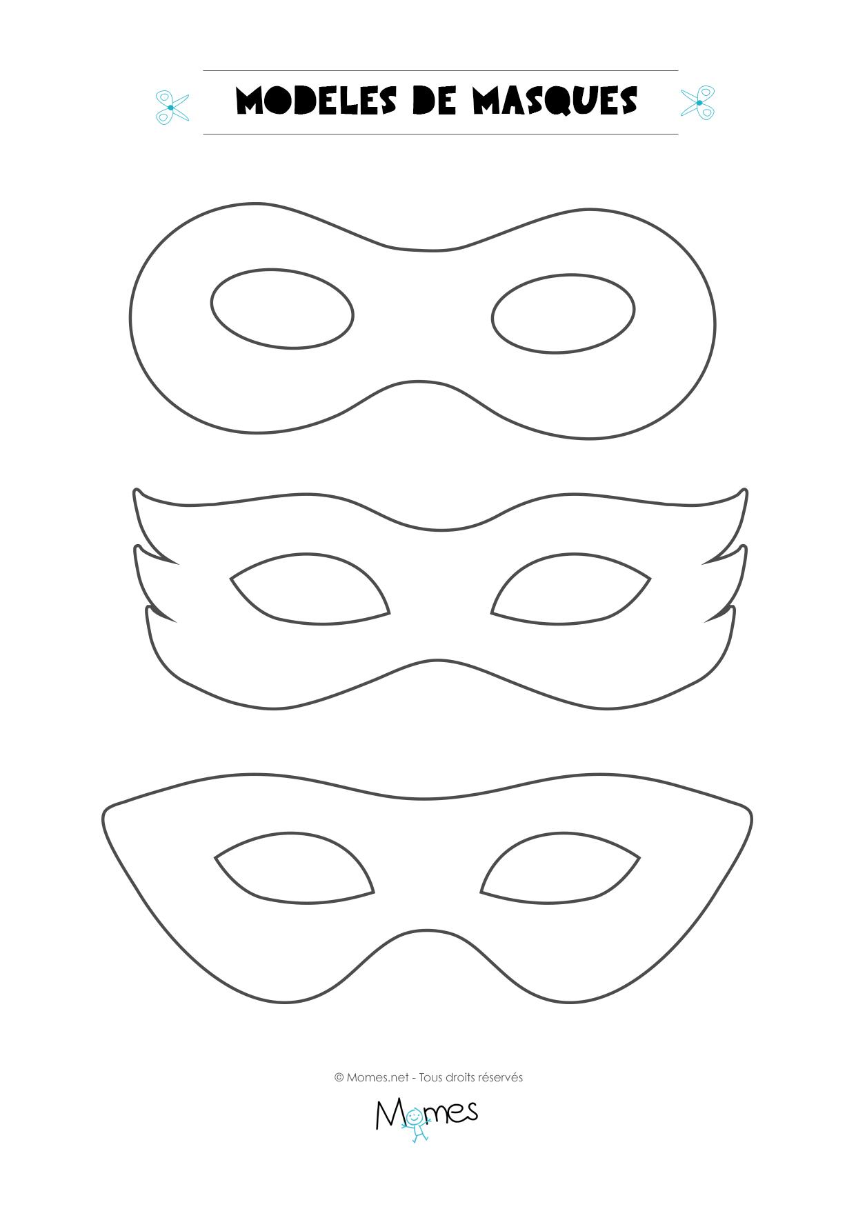 Coloriage Carnaval A Imprimer Pdf.6 Modeles De Masques Pour Le Carnaval Momes Net