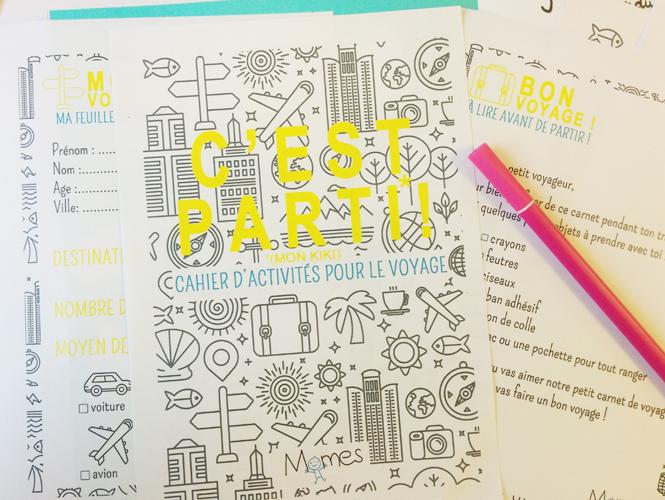 A imprimer d'urgence : le cahier d'activités pour la route