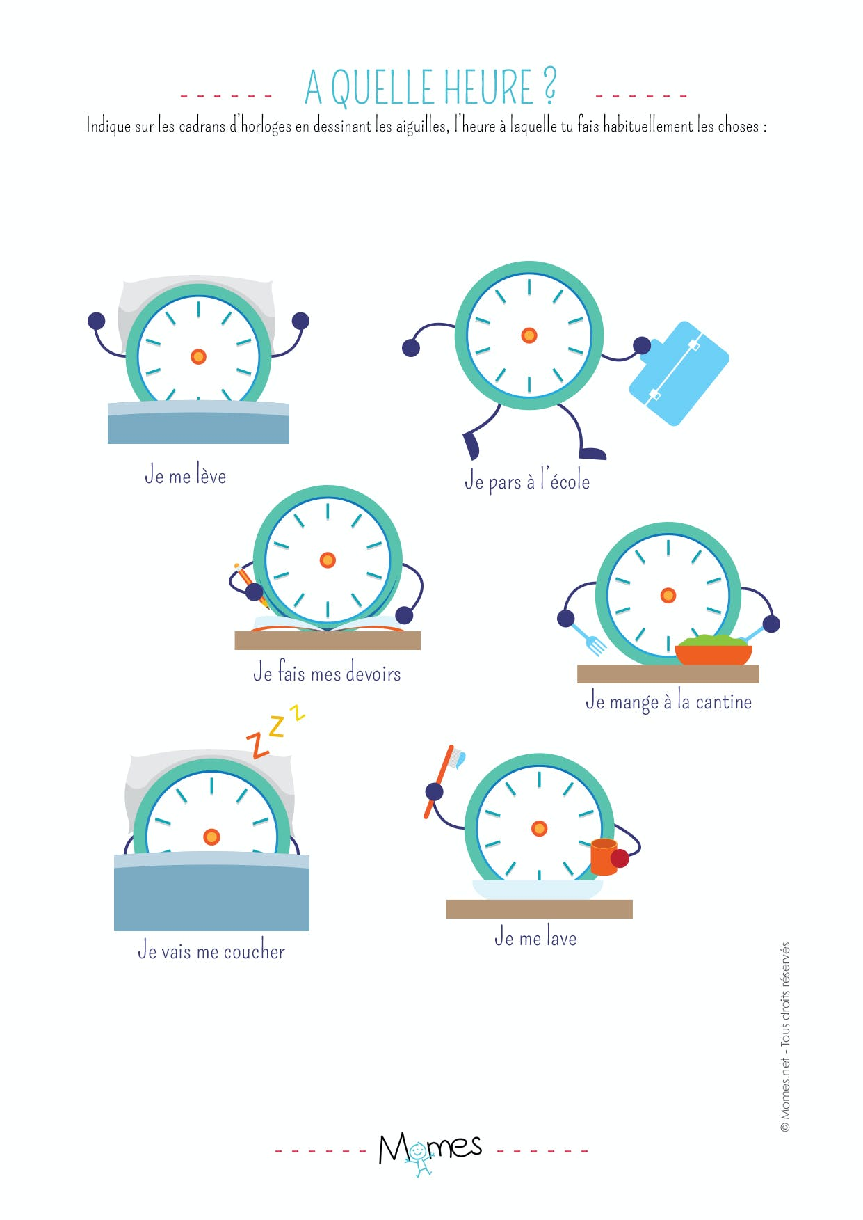 A quelle heure ? Exercice