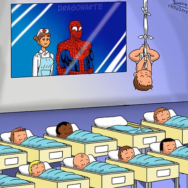 À quoi ressembleraient les bébés des Super-Héros à la maternité ?