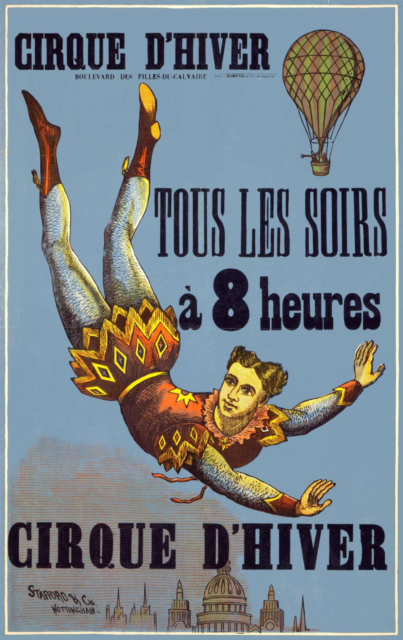 Affiche pour un spectacle du Cirque d'hiver de 1890