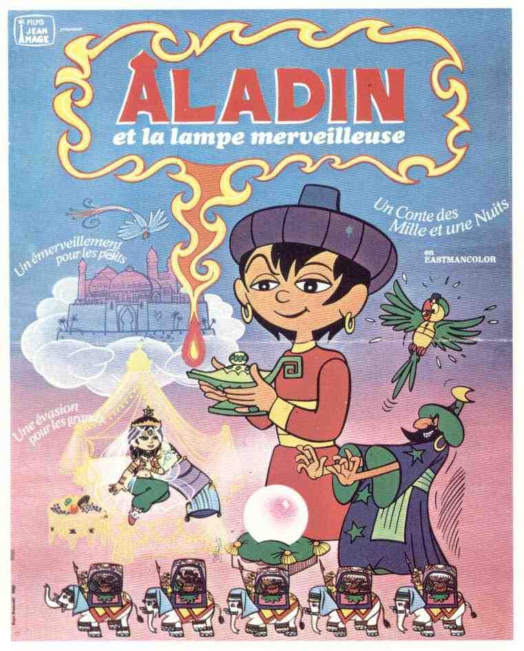 Affiche Aladin et la lampe merveilleuse