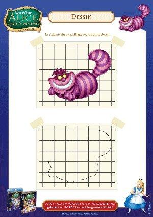 Alice aux pays des merveilles : dessine le Chat du Cheshire