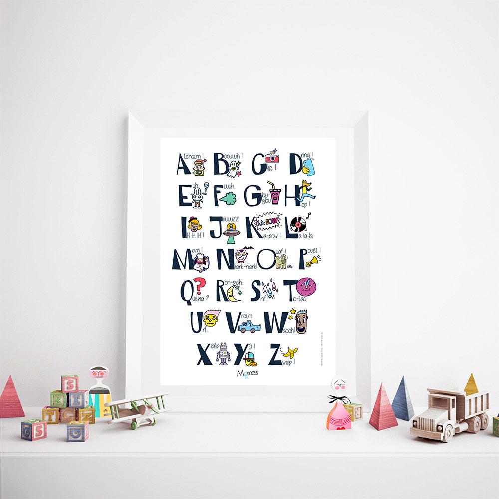 poster abecedaire onomatopées