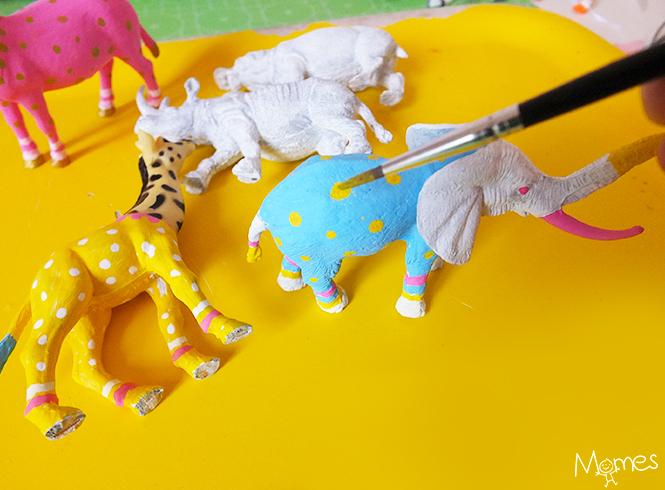 peindre des animaux jouets