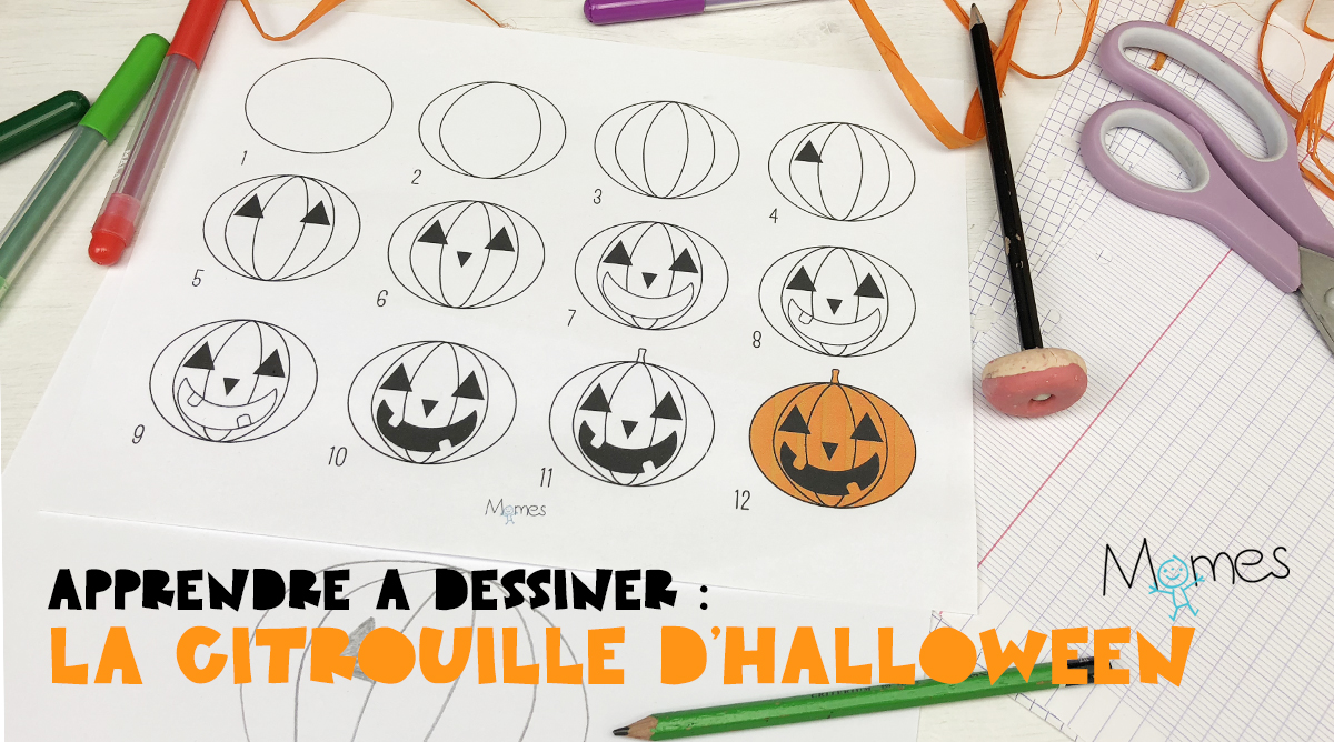 Apprendre à Dessiner La Citrouille D Halloween Momes Net