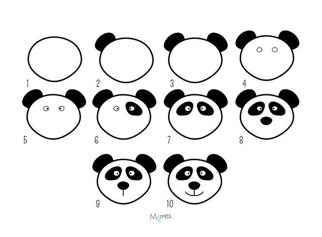 Apprendre à Dessiner Un Panda Momesnet