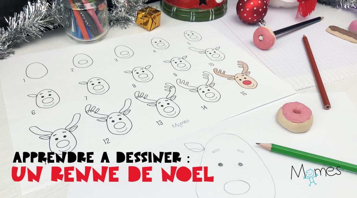Apprendre à dessiner : un renne de Noël