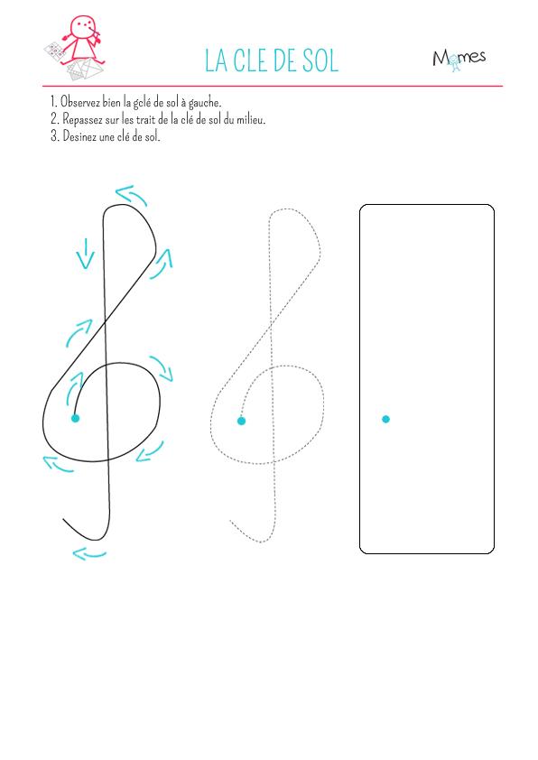 Apprends à dessiner une clé de sol