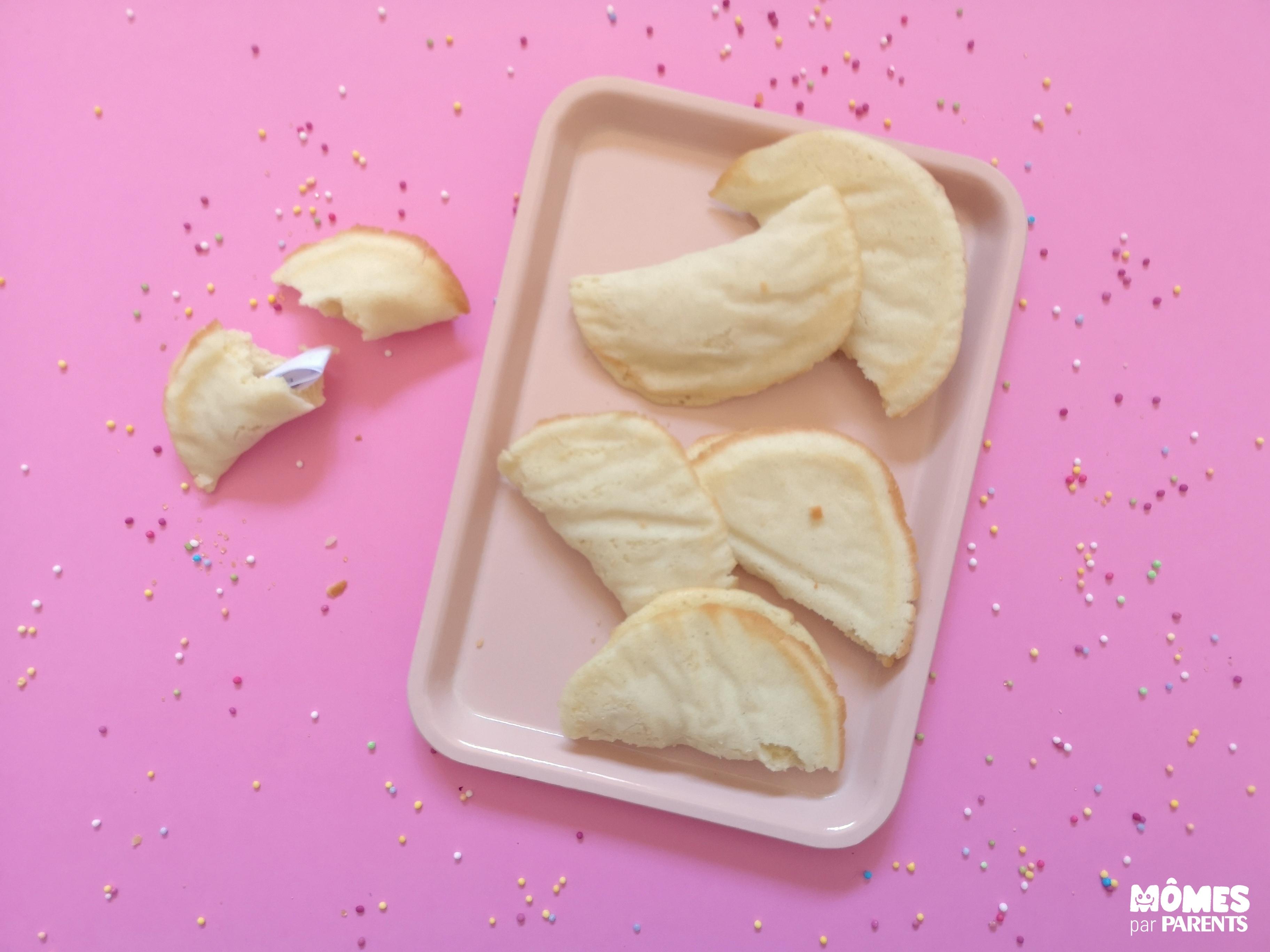 après cuisson fortune cookies