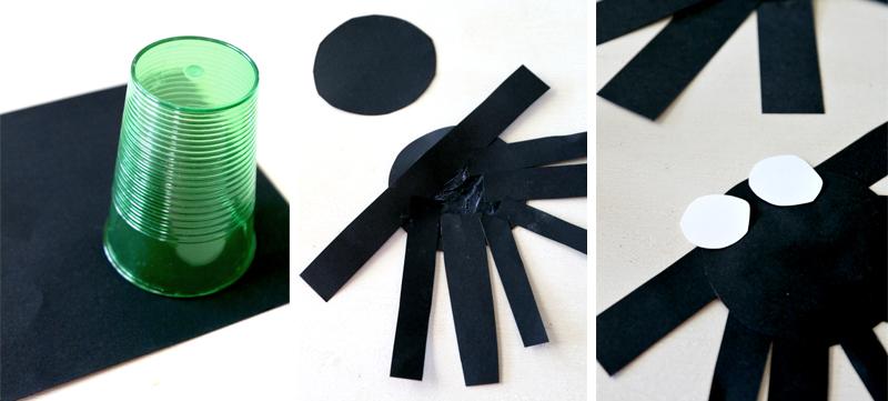 bricolage araignee en papier