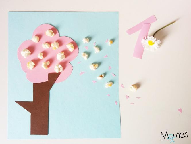 bricolage arbre printemps