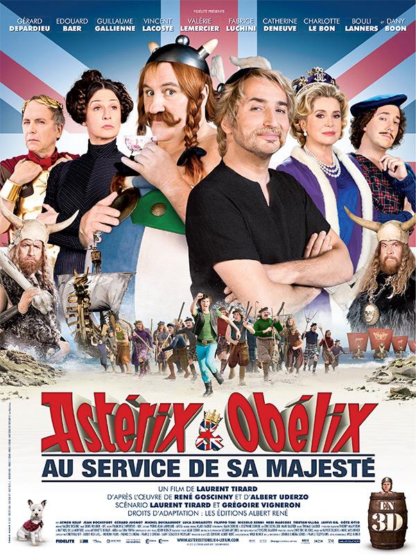 Affiche Asterix au service de sa majesté