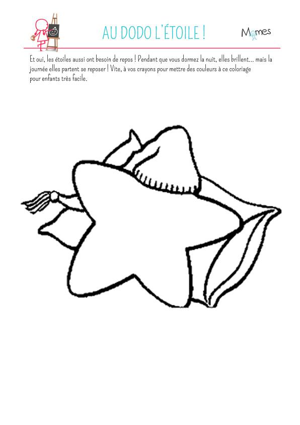 Coloriage : Au dodo l'étoile !