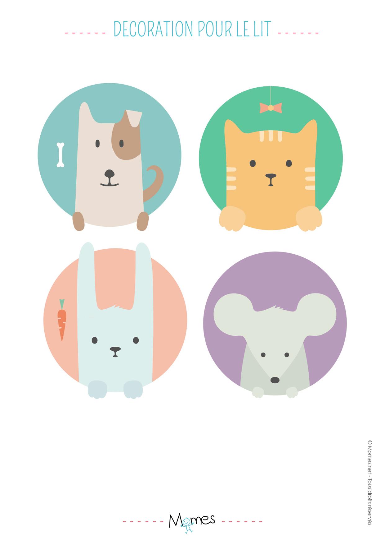 autocoltant animaux à imprimer