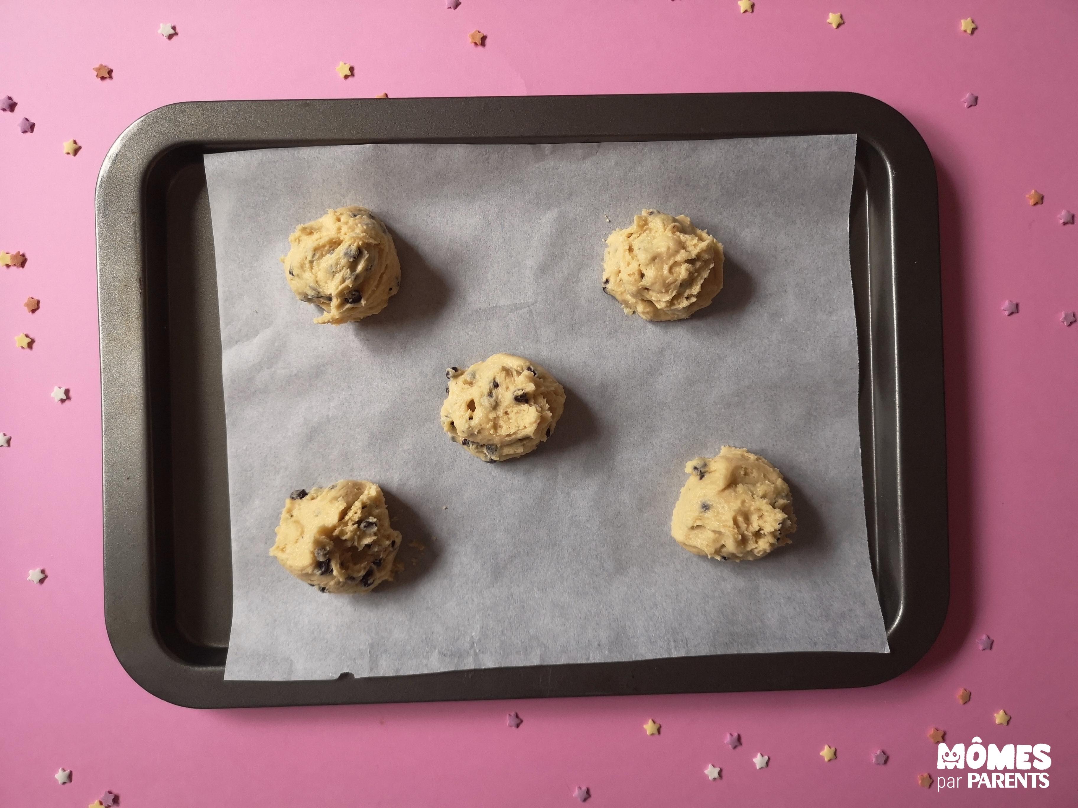 avant cuisson cookies
