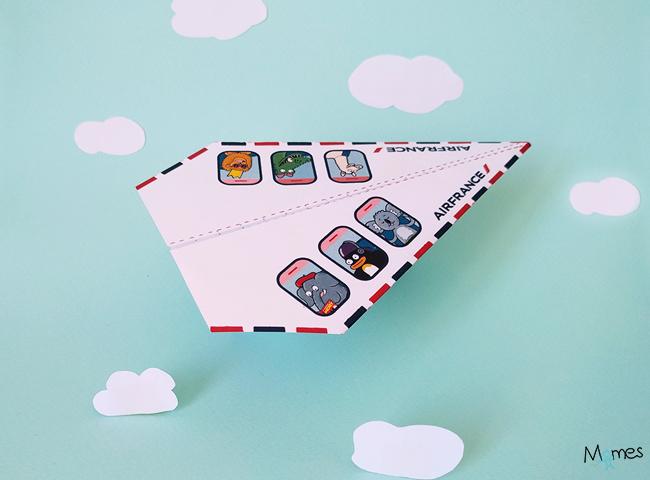 avion en papier air france