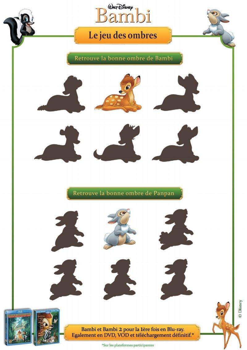 Bambi : le jeu des ombres