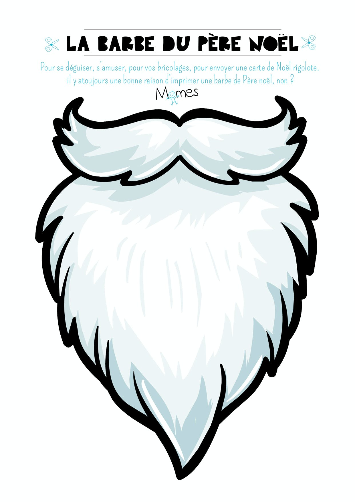 barbe de pere noel à imprimer