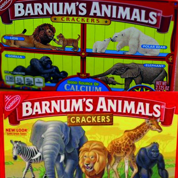 Barnum's Animals crackers : les animaux des biscuits libérés de leurs cages !