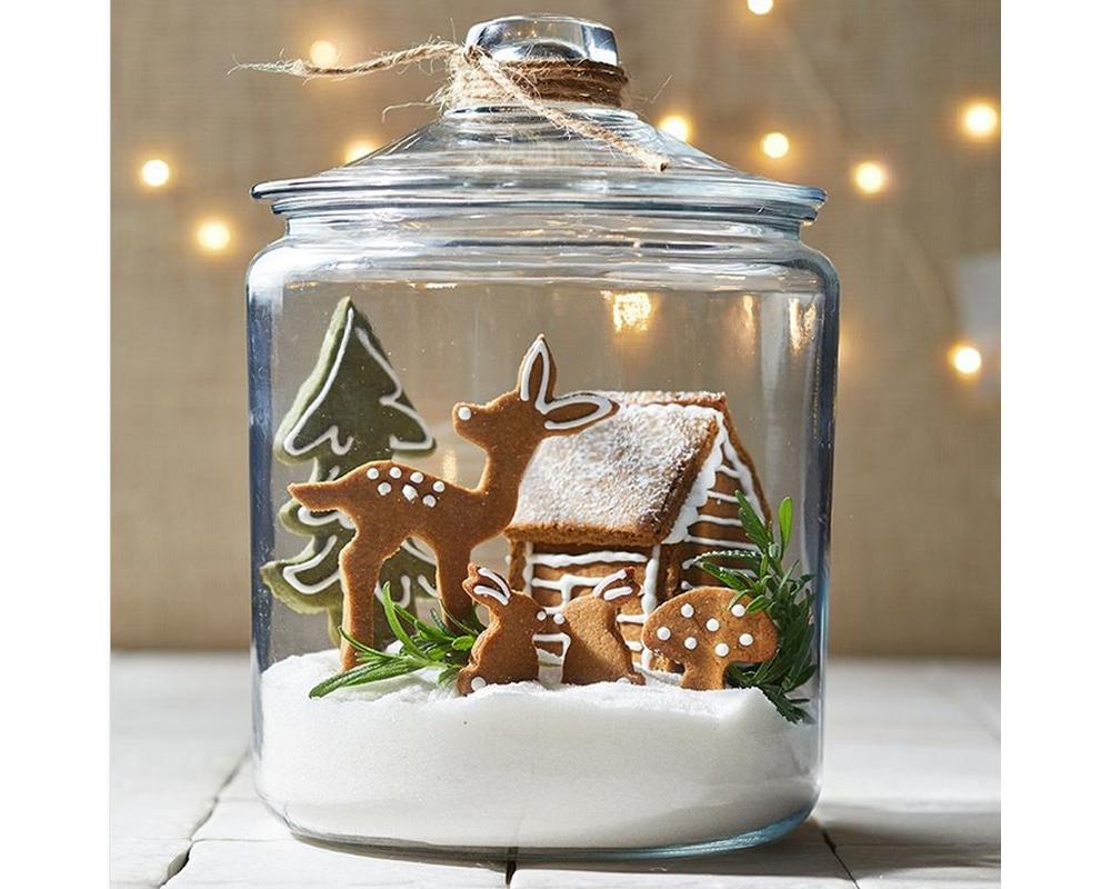 idées cadeaux Noël DIY faire soi-même bricolages Bocal à neige gourmand