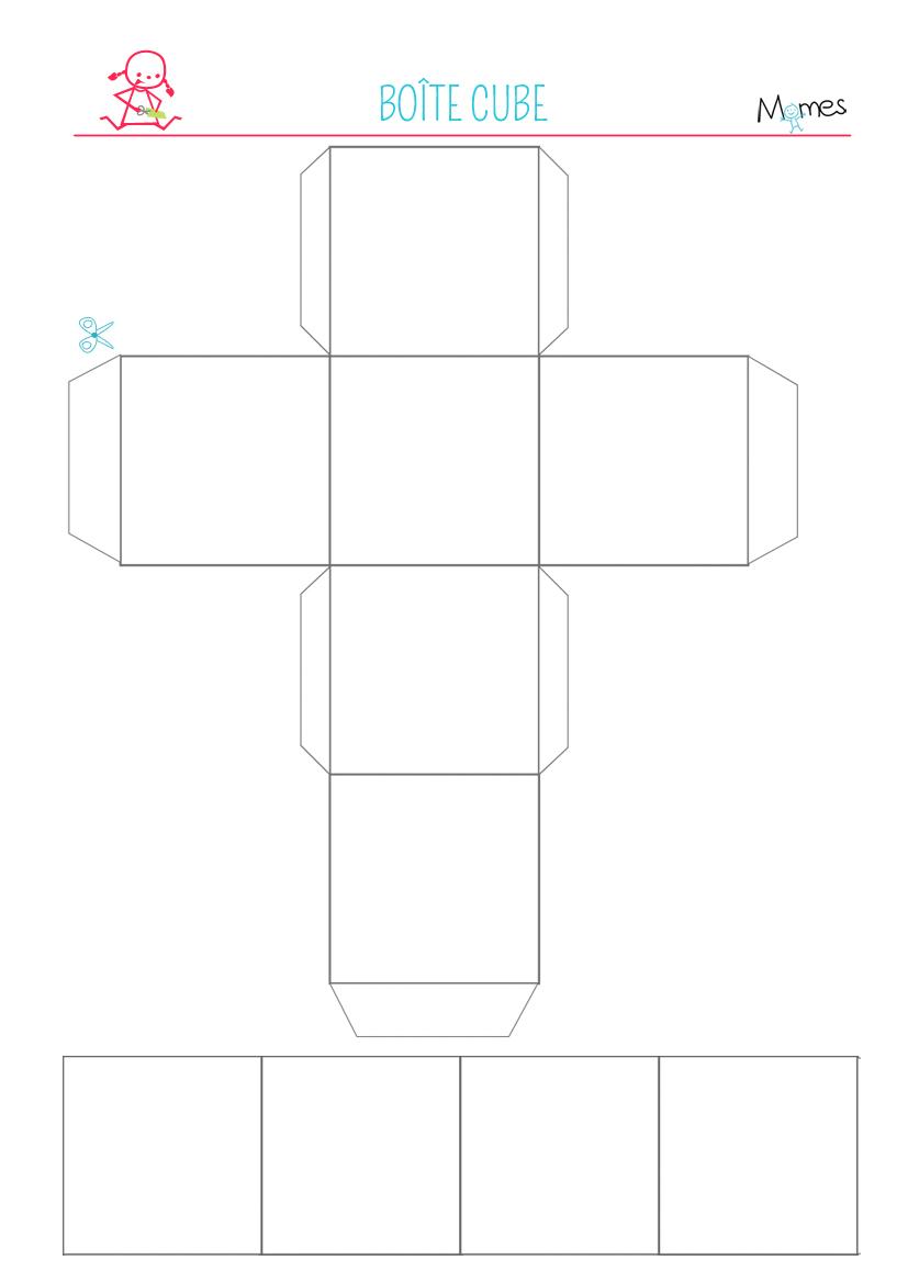 modele boite cube à imprimer