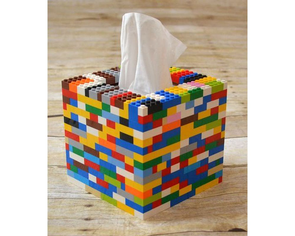 idées cadeaux Noël DIY bricolages faire soi-même Boîte à mouchoirs Lego
