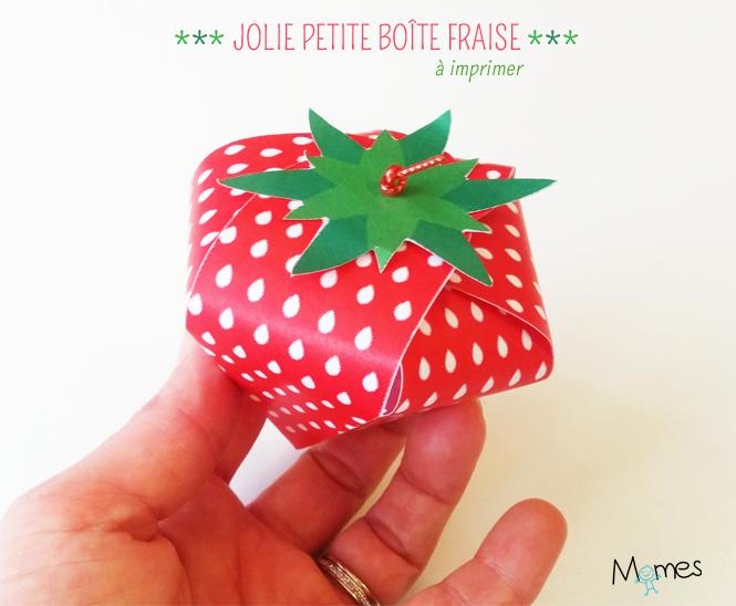 boite fraise à imprimer