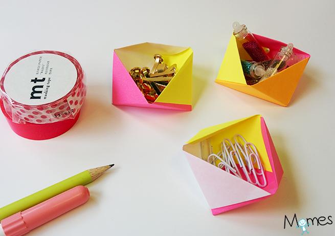 boite géométrique origami 3d