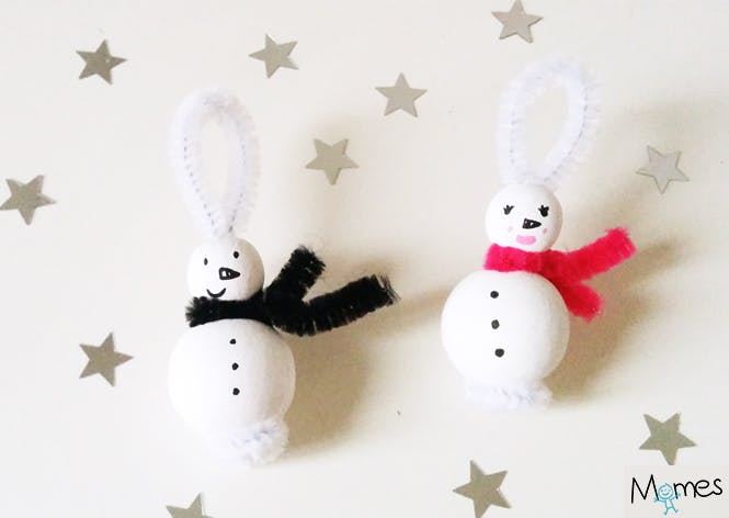 bonhomme de neige bricolage maternelle