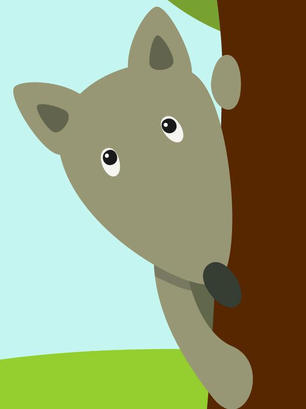 Bonsoir bonsoir les loups - Image de loup a imprimer ...