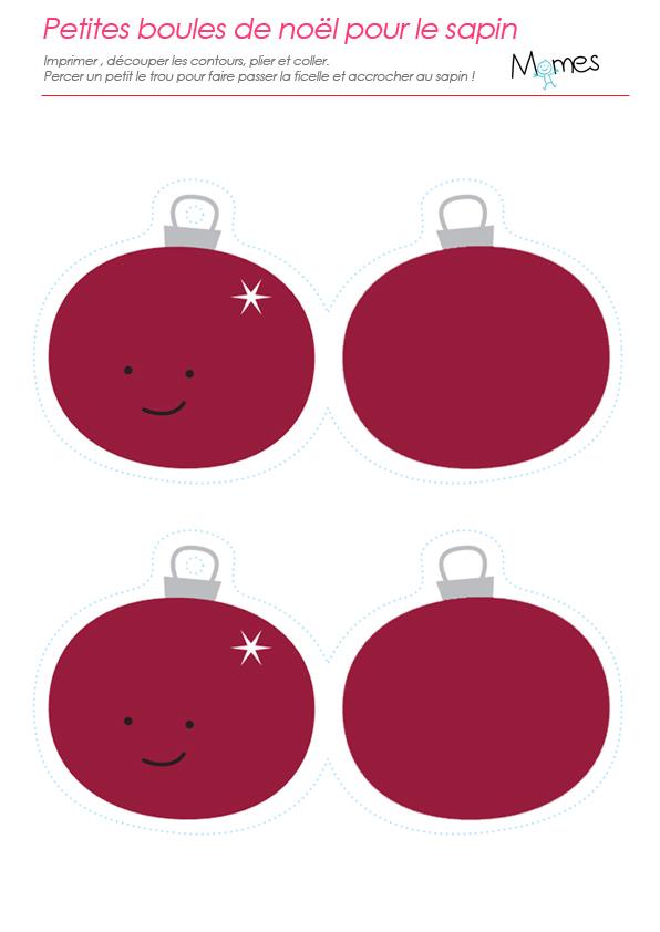Boules de Noël à imprimer