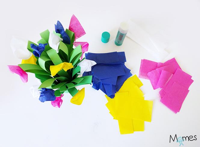 bouquet en papier enfant