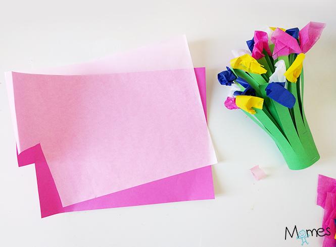fleurs en papier maternelle