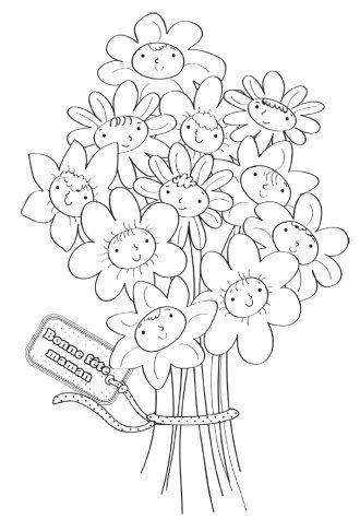 Bouquet pour maman - Coloriage de fete des meres a imprimer ...
