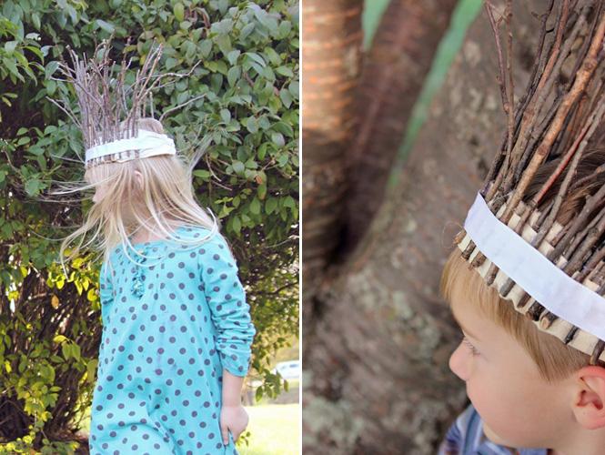 Bricoler une couronne de branchages