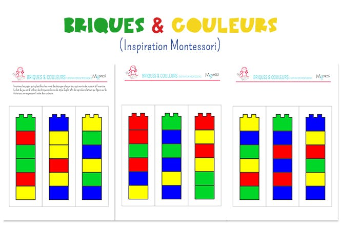 briques couleurs inspiration montessori. Black Bedroom Furniture Sets. Home Design Ideas