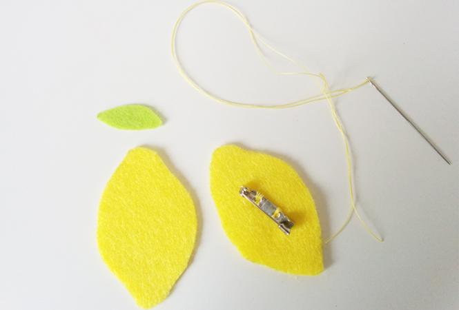 broche citron tuto