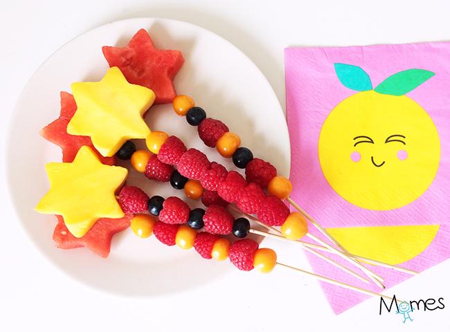 brochette de fruits étoiles