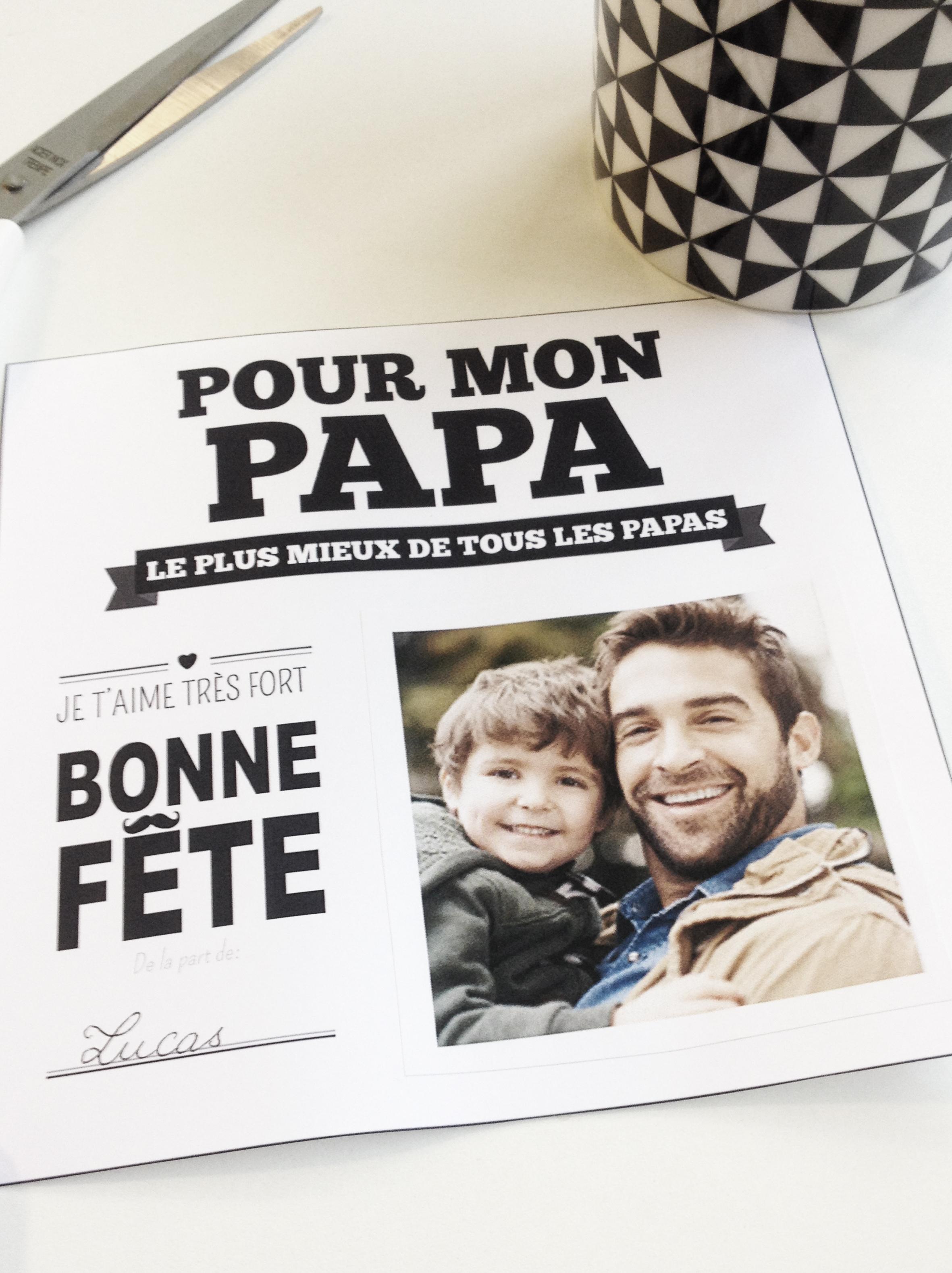 cadre photo fête des pères