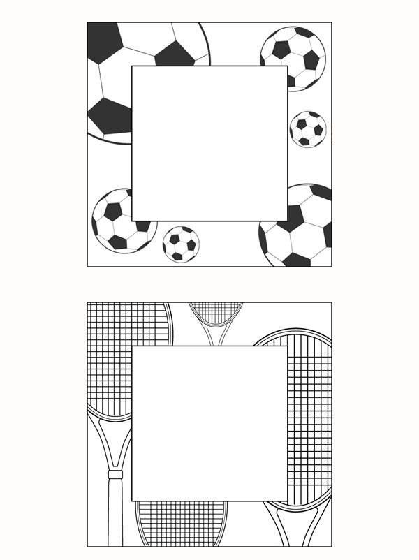 Cadres thème sport à imprimer