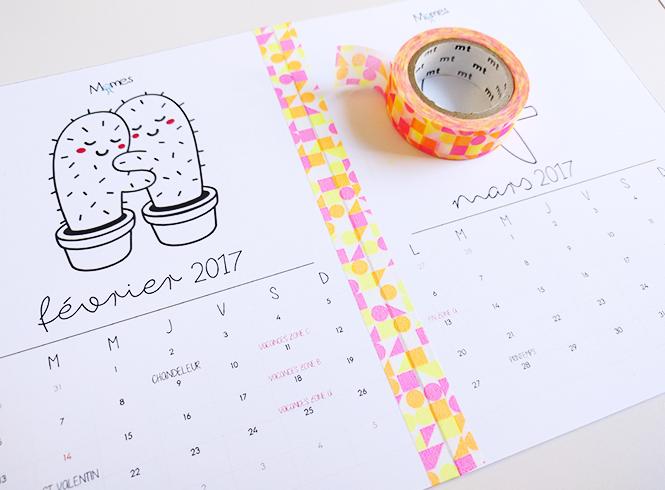 calendrier à colorier